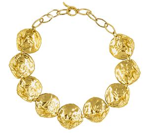 Collier Vénus, Plaqué or, bijou couture